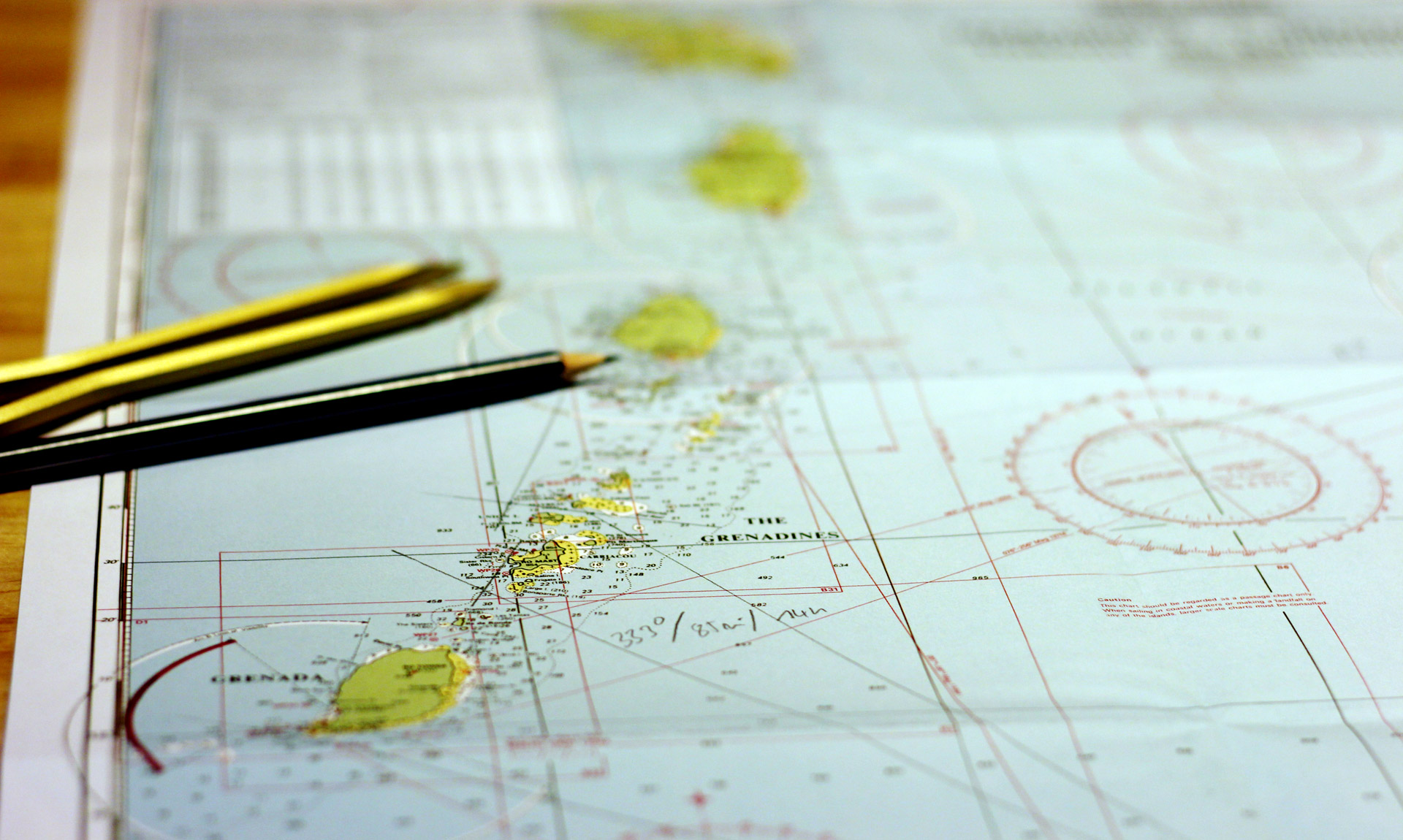 Charts for practicing and improving one´s navigational skills.