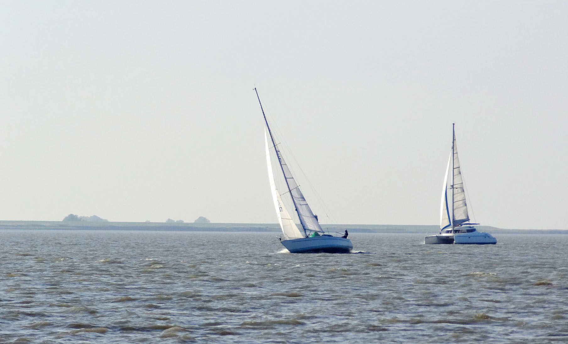 Elbe is a tricky sailing area.