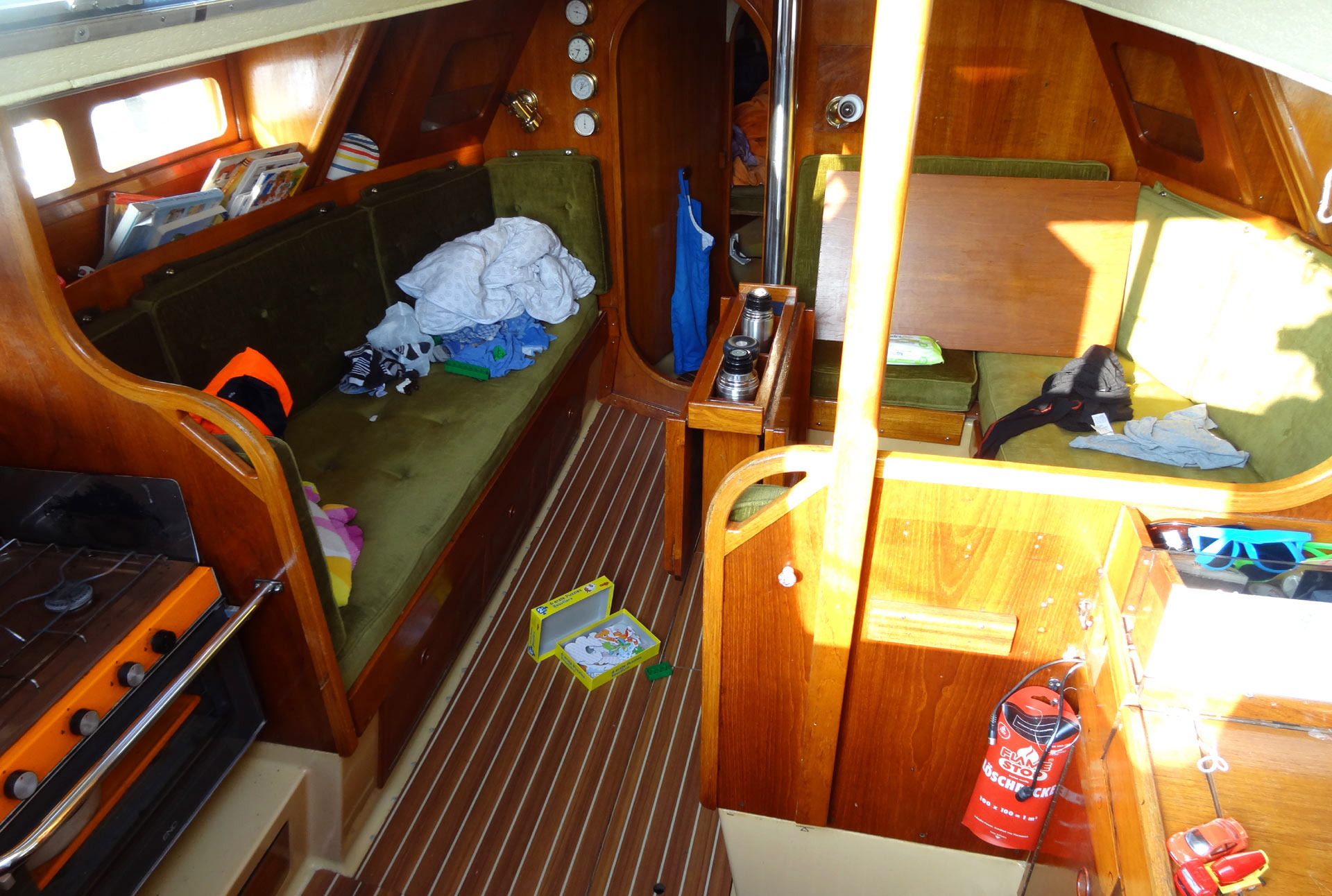 After the trip: The yacht needs a complete cleanup.