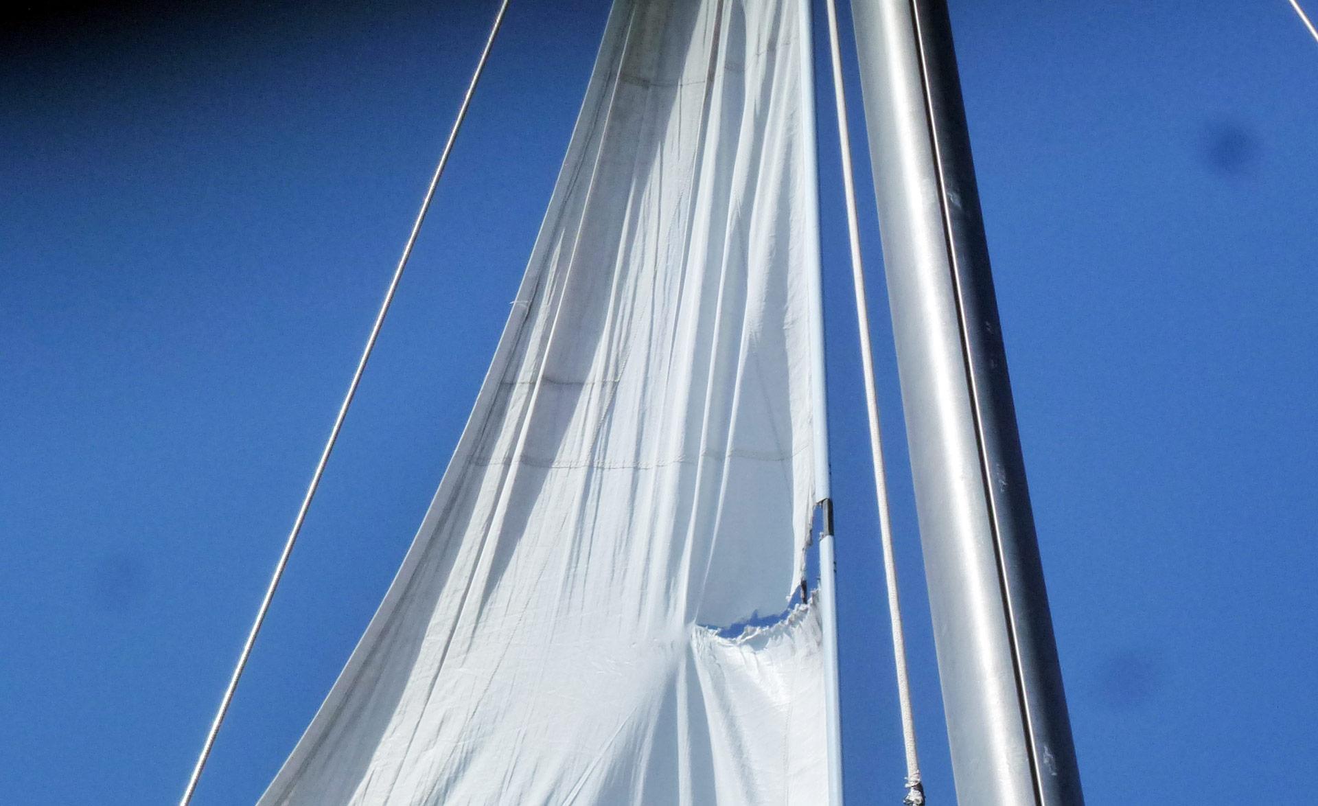 A teared off sail.