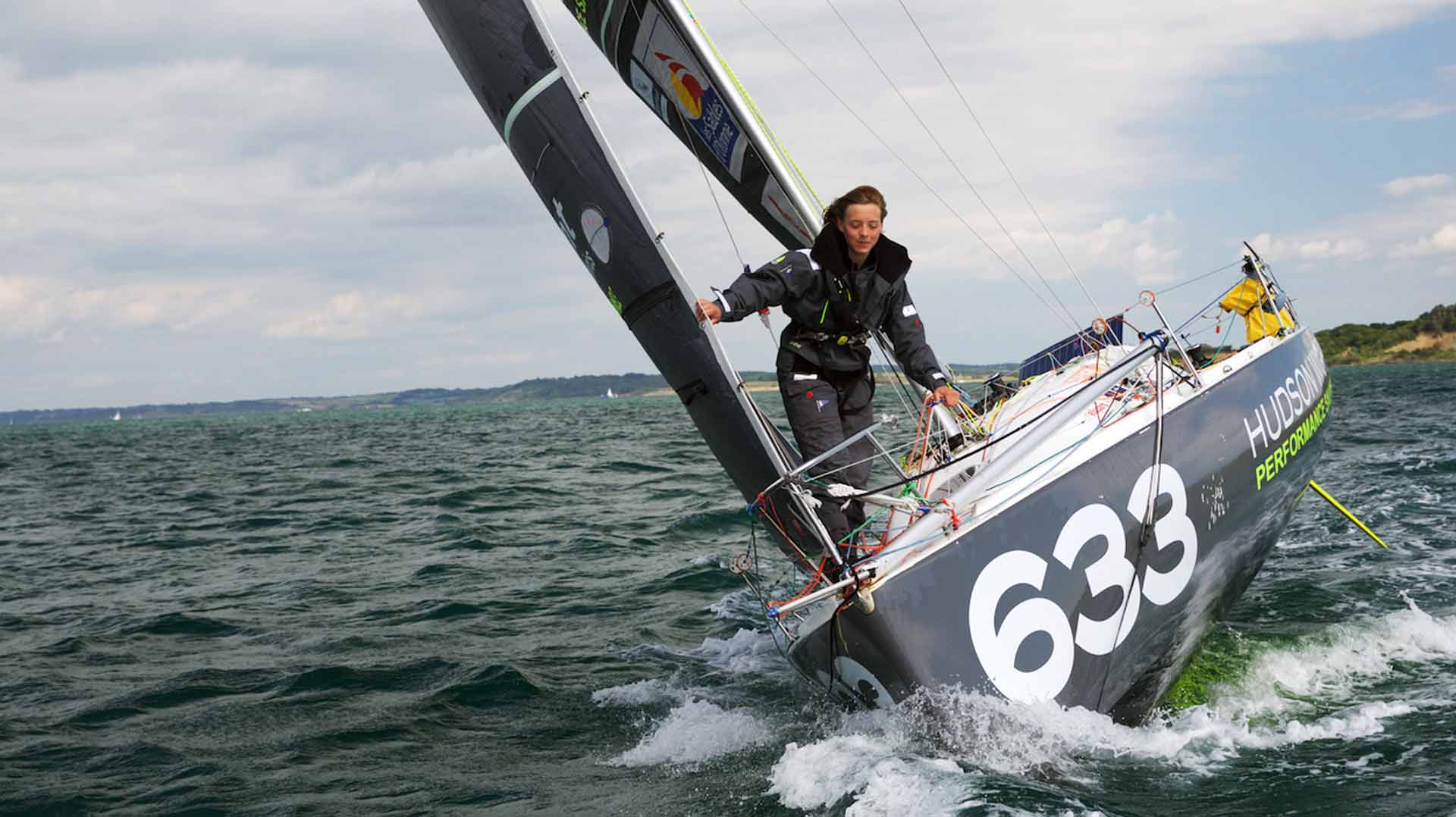 Sailing shorthanded and alone: Lizzy is a true master of her boat.