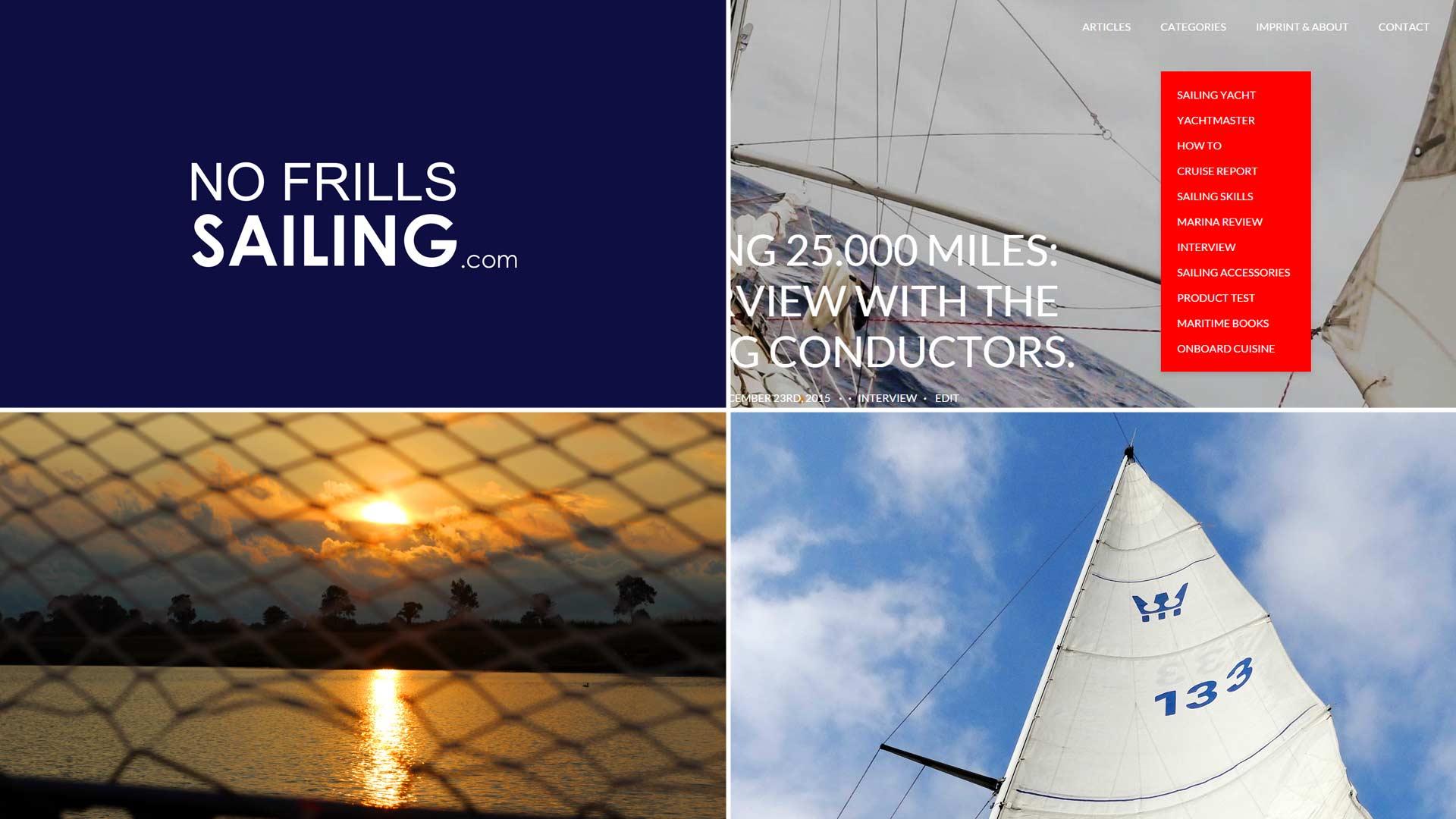 no frills sailing blog