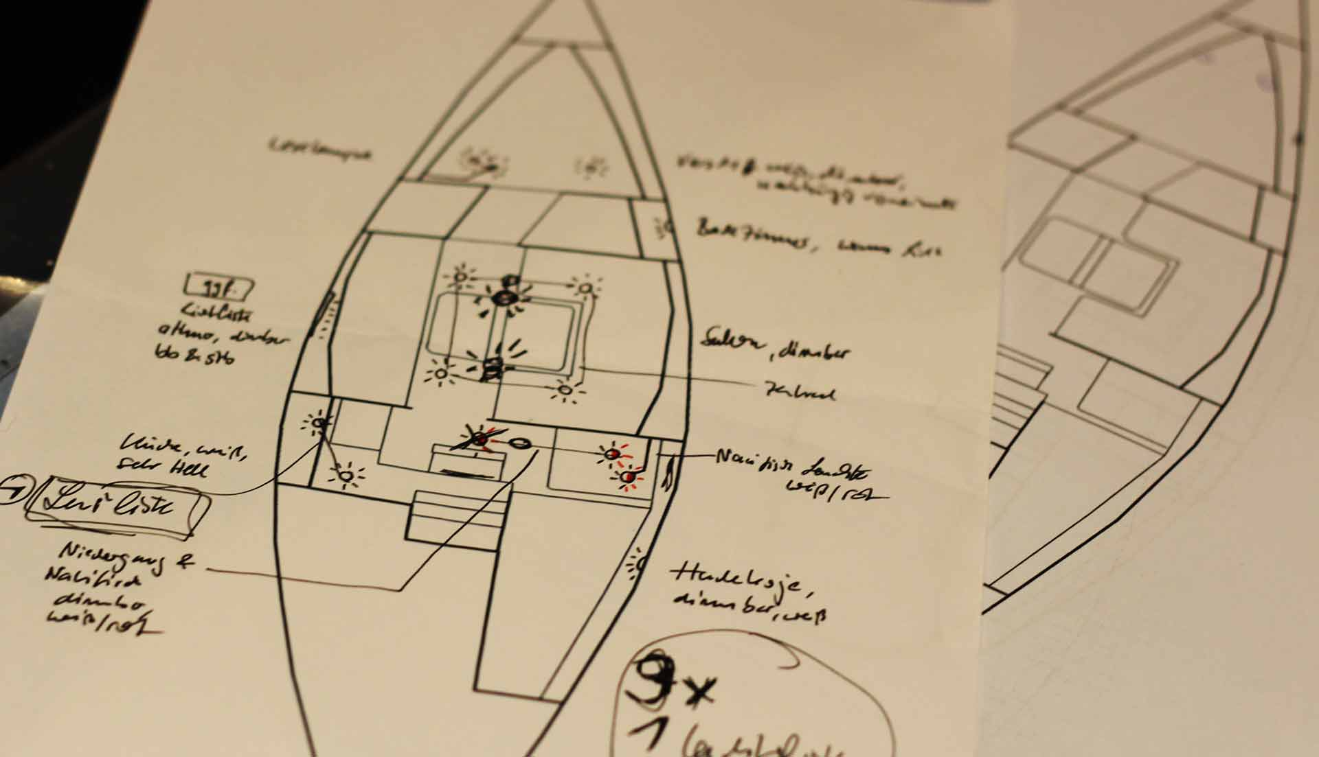 Planning the new Lighting-Concept of my King´s Cruiser 33