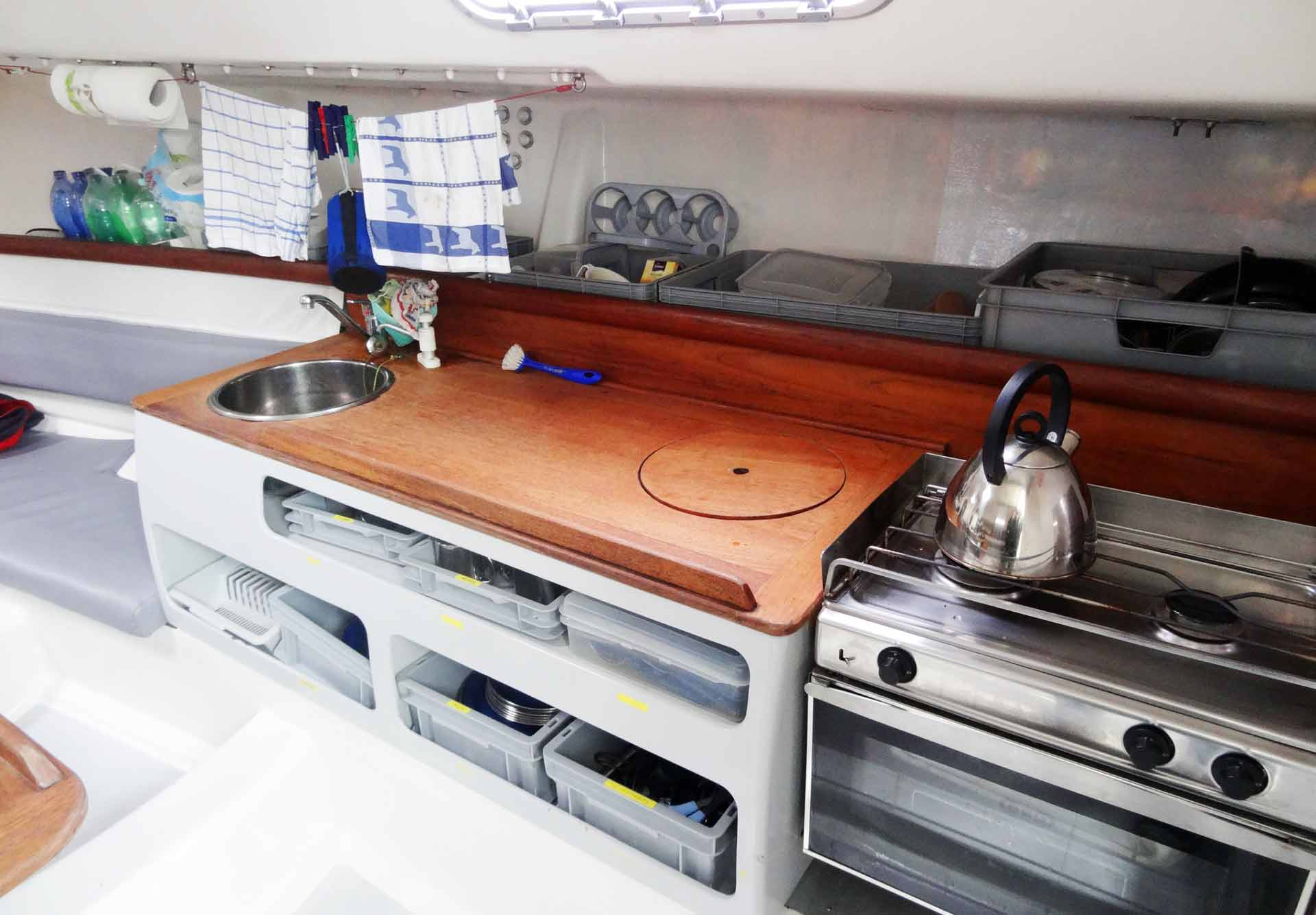 The Galley of our Pogo 40 Sailing Yacht