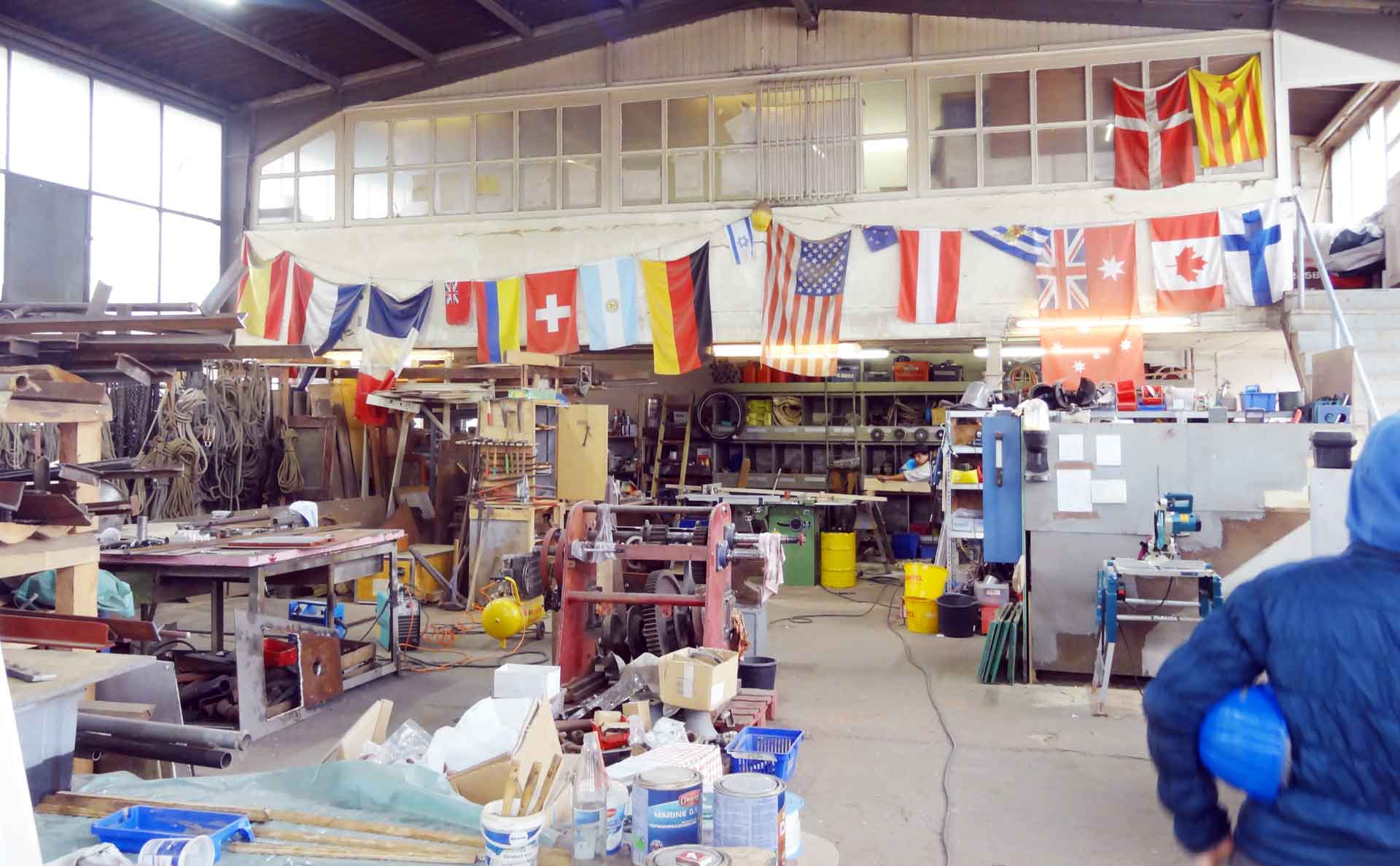 The Shop: Every Volunteer leaves his Mark. An a Flag.