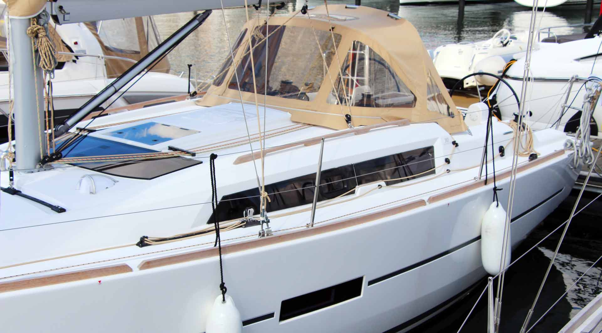 The Dufour 310 is the smallest in range: Yet a big ship indeed