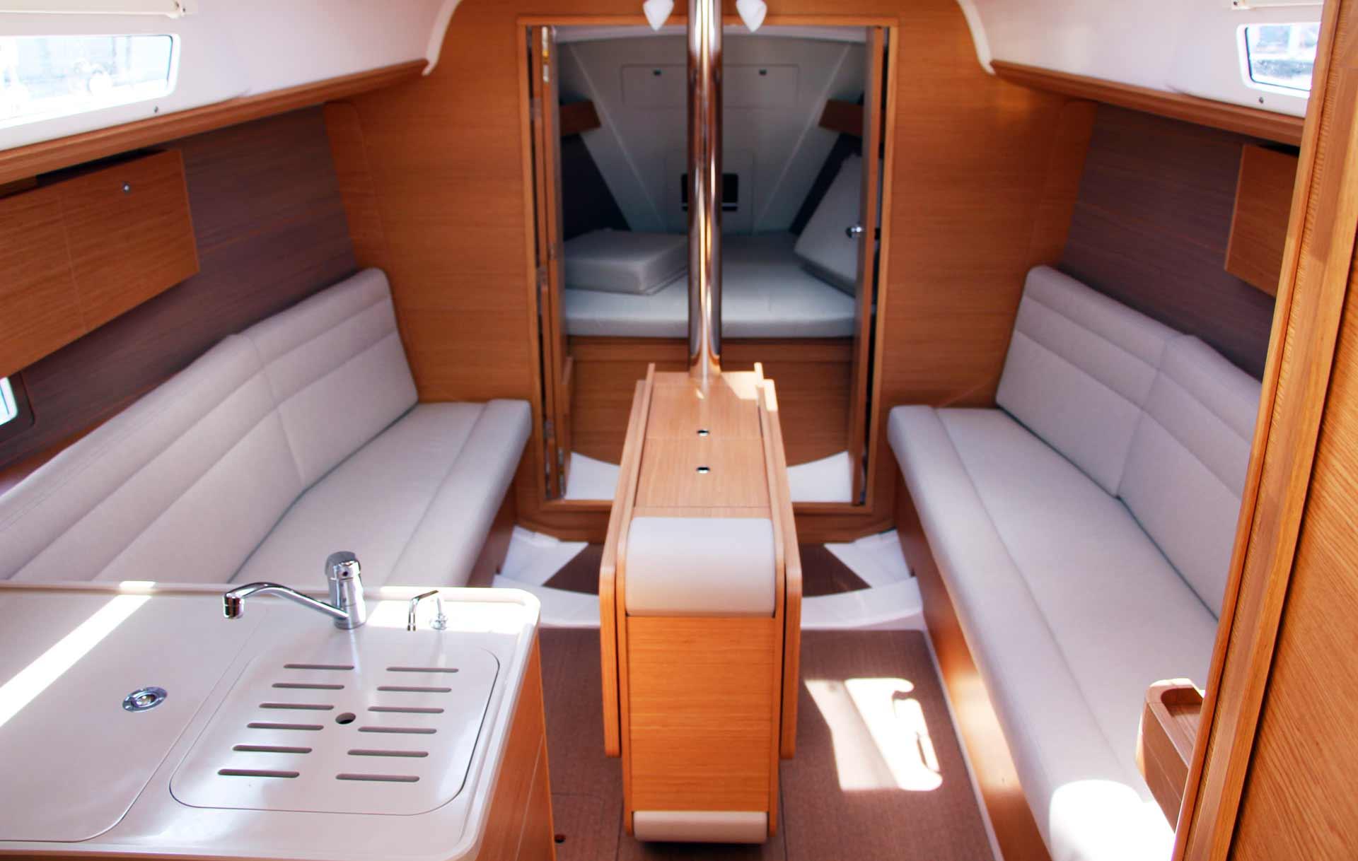 Utilizaton of the interior space is exemplary