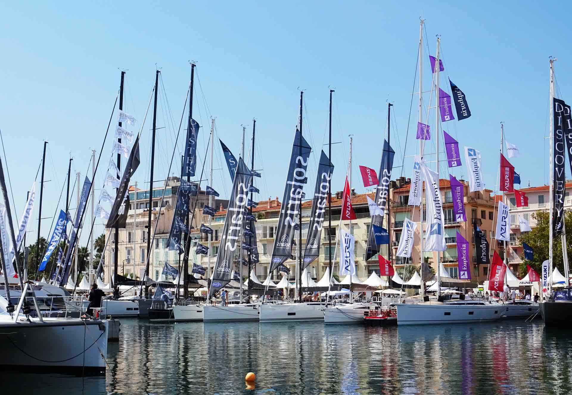 This part of the huge marina is reserved for sailing yachts