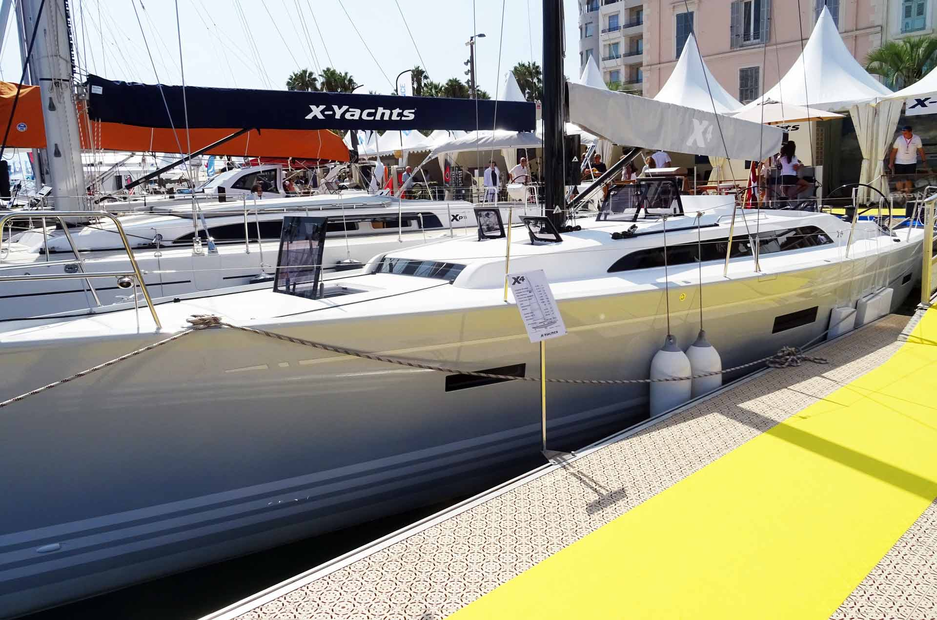 The brand new X4 by X-Yachts. I know her from my visit at the yard.
