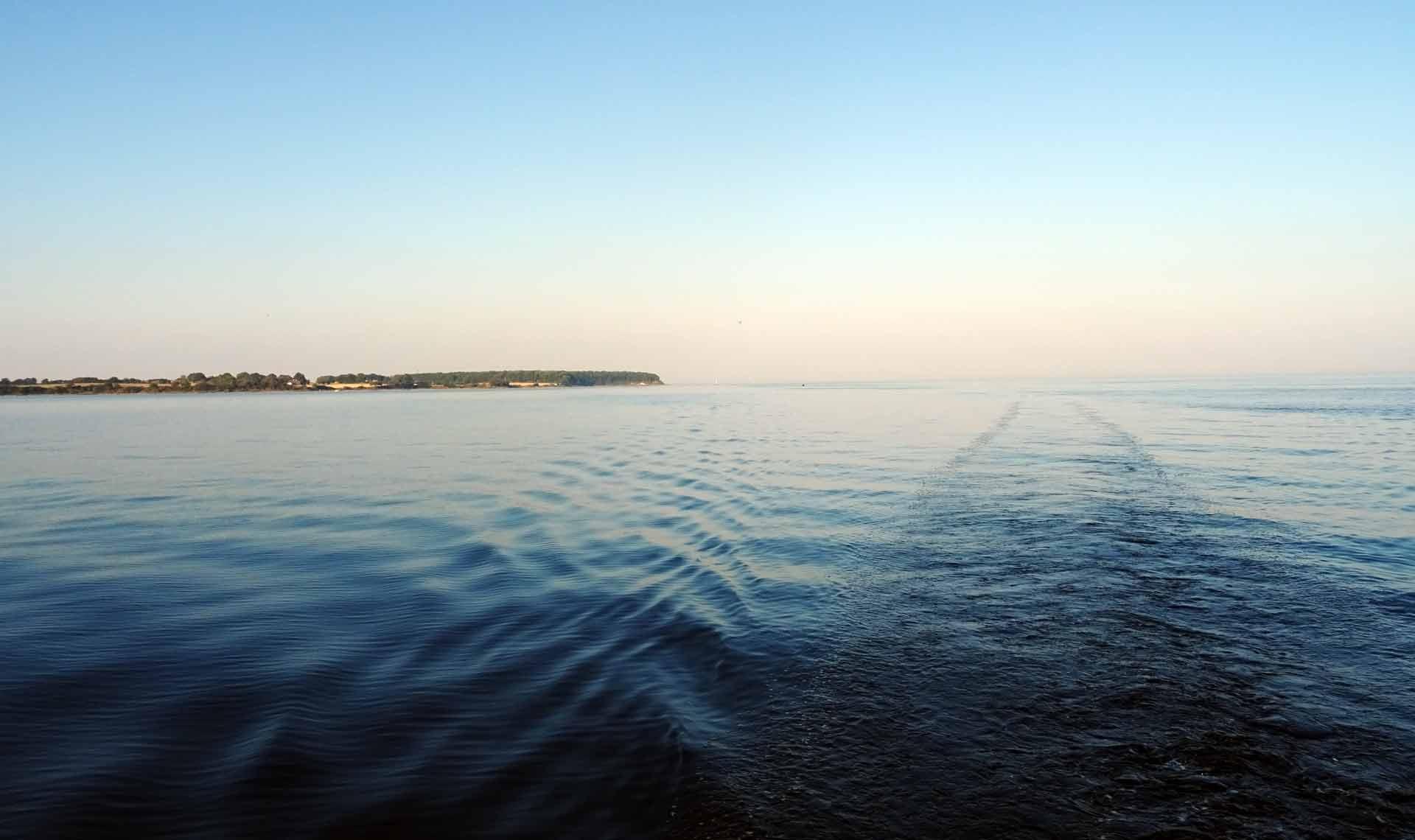 Steaming into Kerteminde Bay
