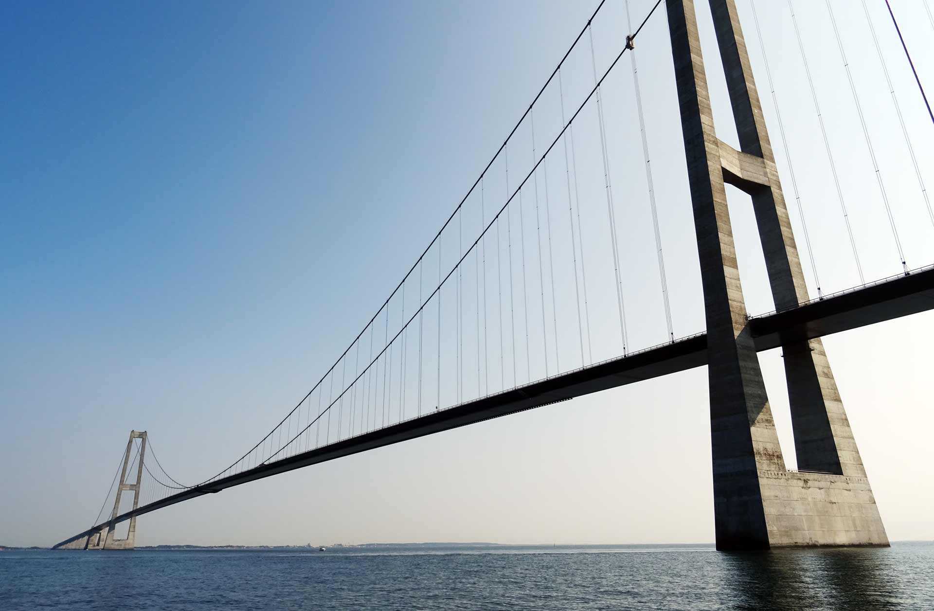 That´s Europe´s biggest bridge: Great Belt Bridge