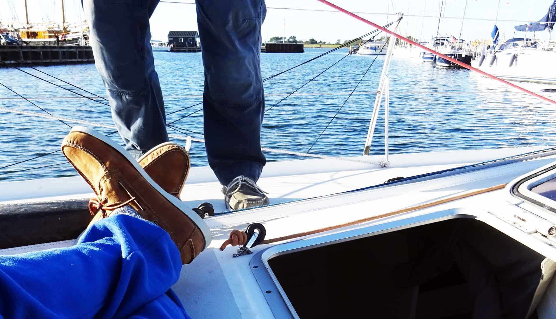 Leisure time, working time: Docksides perform well on a boat, o matter which task
