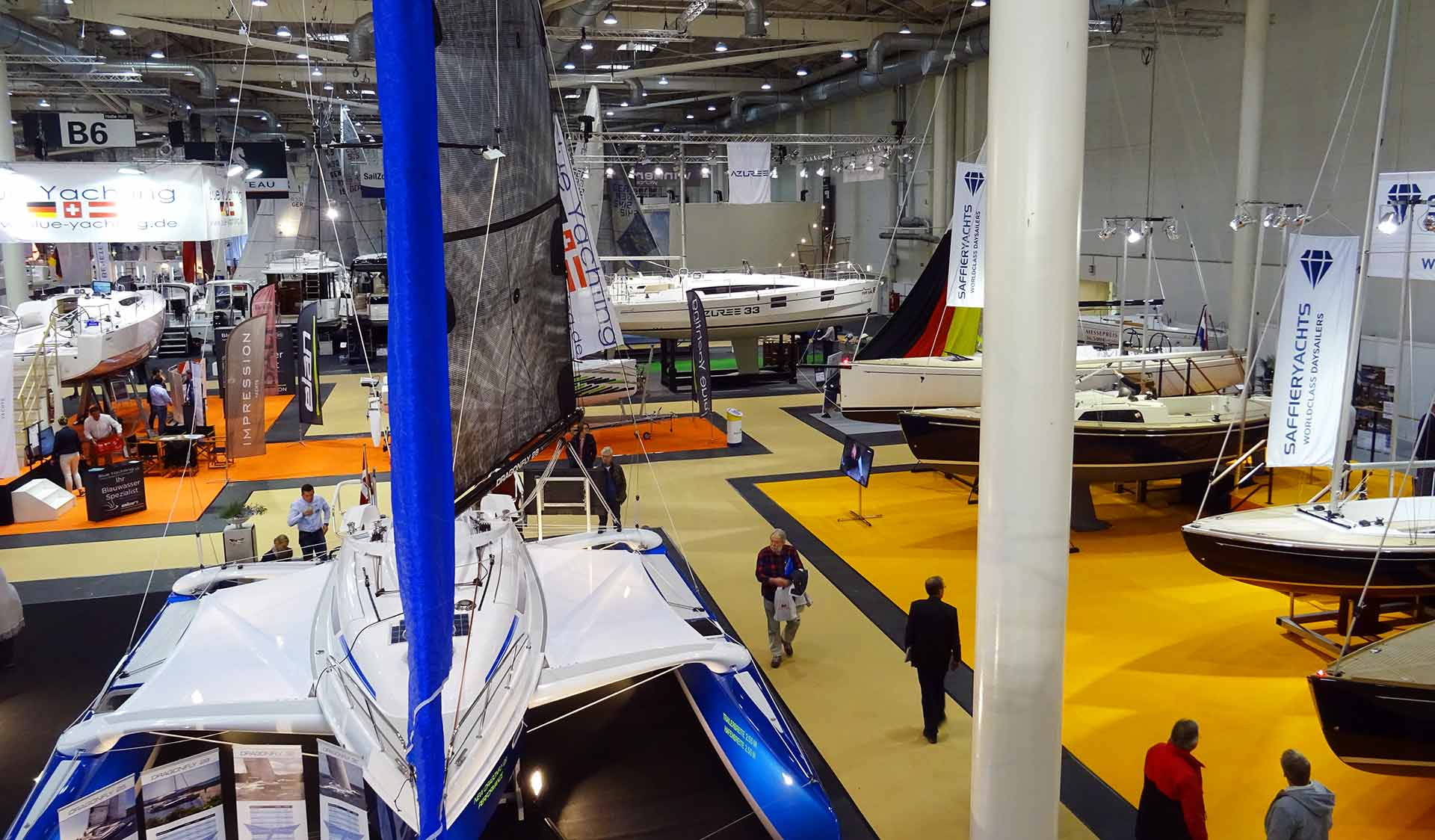 More space, less exhibitors in terms of sailing boats. A trend?