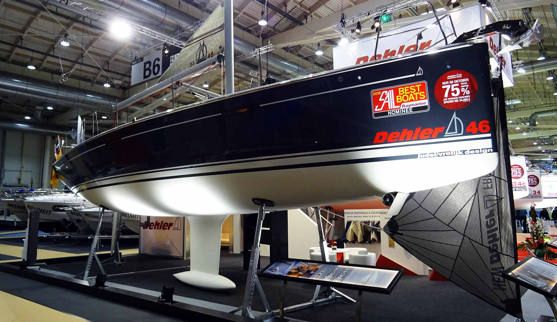 In my eyes the most enthalling boat of the show: The Dehler 46