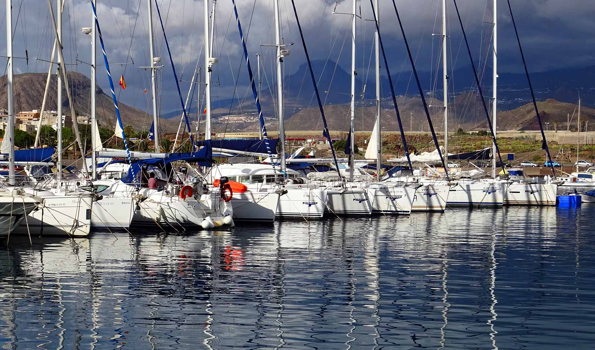 Marina del Sur will is one charter hub in Tenerife, go look for Lava Charter