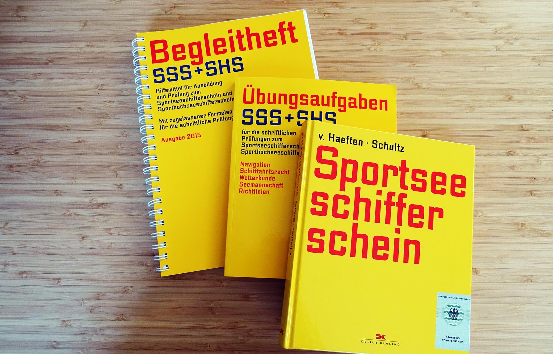 Bücher Begleitheft SSS und SHS Sportseeschifferschein Sporthochseeschifferschein Buch